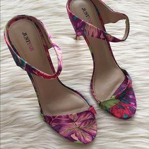 Just Fab | Louisa Floral Heel | 11